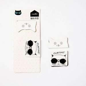"""Магнитная закладка """"Black&white cat"""" (2)"""