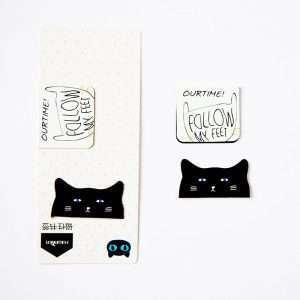 """Магнитная закладка """"Black&white cat"""" (4)"""