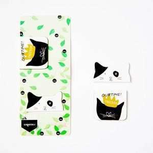 """Магнитная закладка """"Black&white cat"""" (3)"""