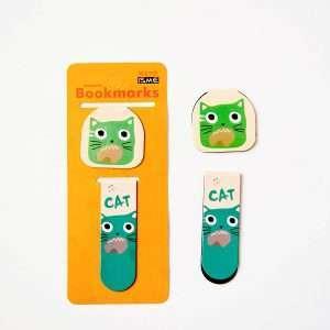 """Закладка магнитная """"Cute cat"""" (зеленый кот)"""