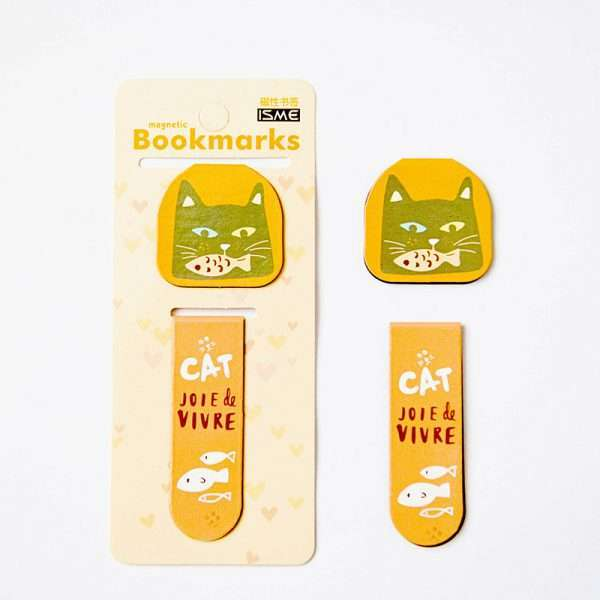 """Закладка магнитная """"Cute cat"""" (кот с рыбой)"""