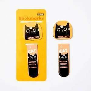 """Закладка магнитная """"Cute cat"""" (черный кот)"""