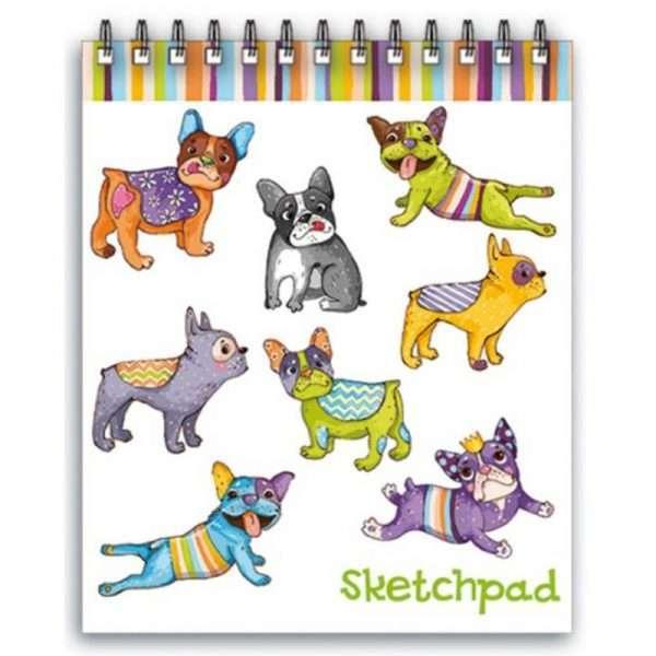 """Скетчпад """"Цветные собачки"""", А6, 60л"""