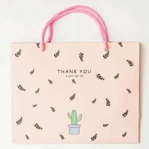 """Пакет подарочный """"Cactus"""" (розовый)"""