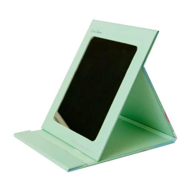 "Зеркало для макияжа ""Единорог"" (зеленое)"