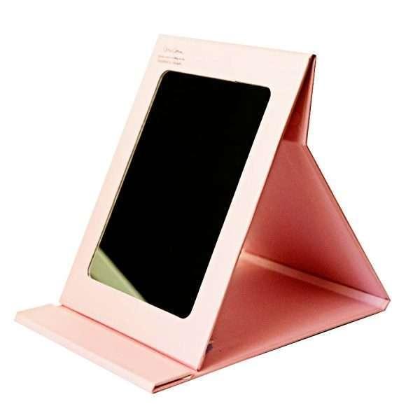 "Зеркало для макияжа ""Единорог"" (темно-розовое)"