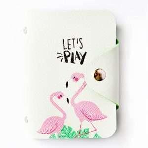 """Обложка для карт """"Flamingo"""" (2 фламинго)"""