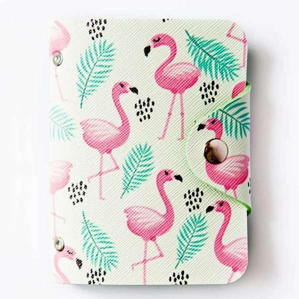"""Обложка для карт """"Flamingo"""" (много фламинго)"""