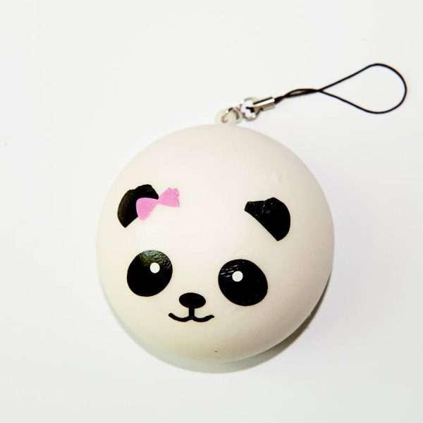 "Сквиши ""Panda"" (сиреневый бант)"