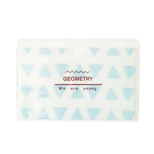 """Обложка для проездного """"Geometry"""" (синий треугольник)"""