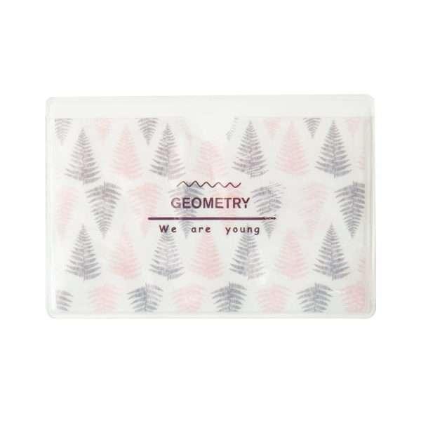 """Обложка для проездного """"Geometry"""" (листья)"""