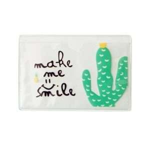 """Обложка для проездного """"Cactus"""" (smile)"""