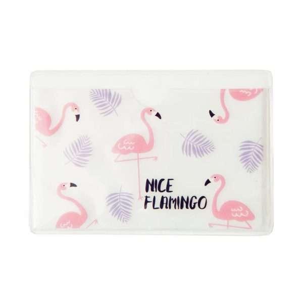"""Обложка для проездного """"Flamingo"""" (листья)"""