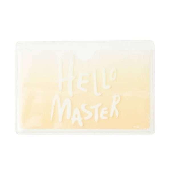 """Обложка для проездного """"Hello Master"""" (желтая)"""