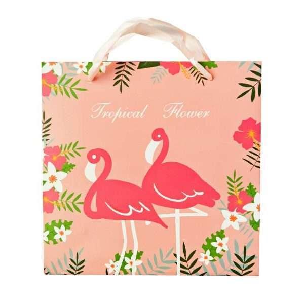 "Пакет ""Tropical flower"", средний (розовый)"