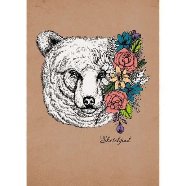 """Скетчпад """"Весенний медведь"""", А5"""