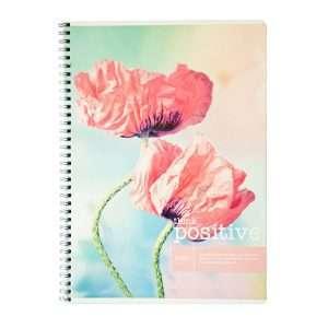 """Тетрадь """"Цветы. Think positive"""", А4, 80л"""