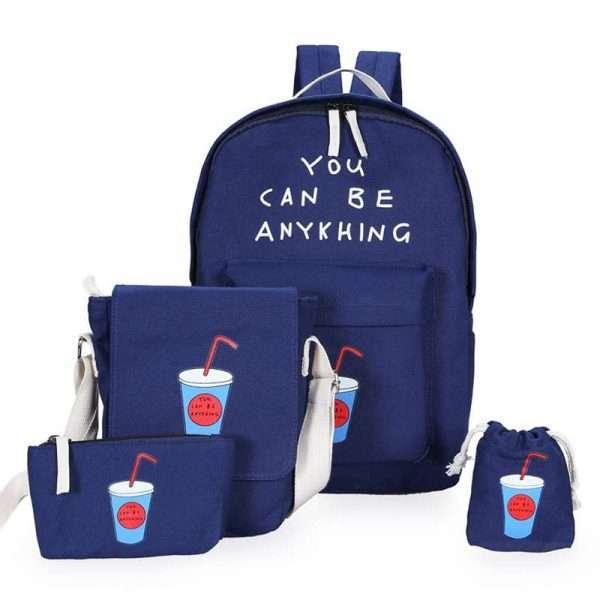 Рюкзак + сумки «Коктейль» (синий)
