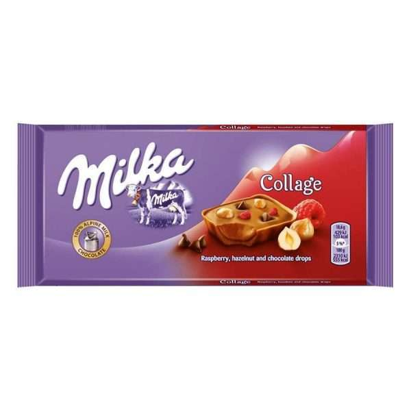 """Шоколадная плитка """"Milka"""" (малина и орехи)"""