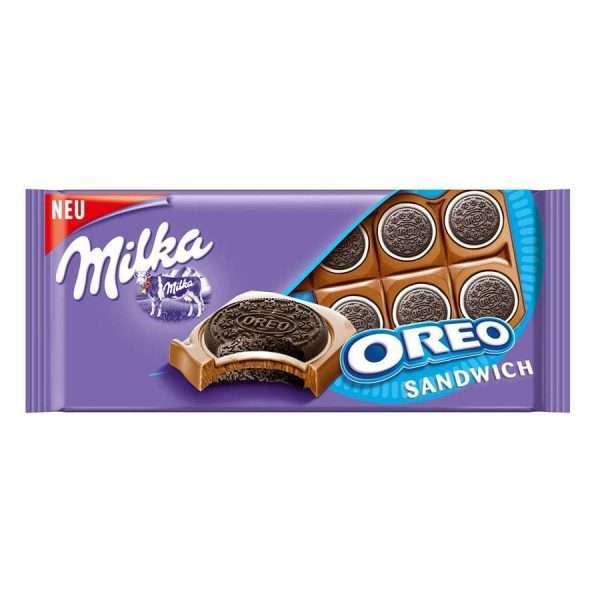 "Шоколадная плитка ""Milka Oreo Sandwich"""