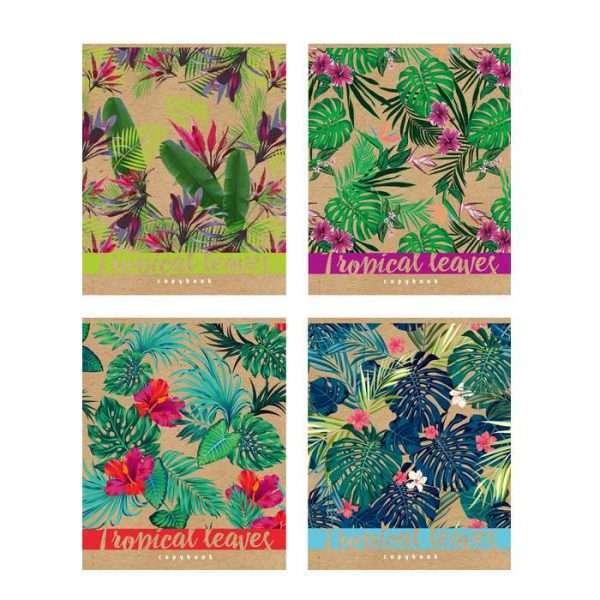 """Тетрадь """"Tropical leaves"""", А5, 48л"""