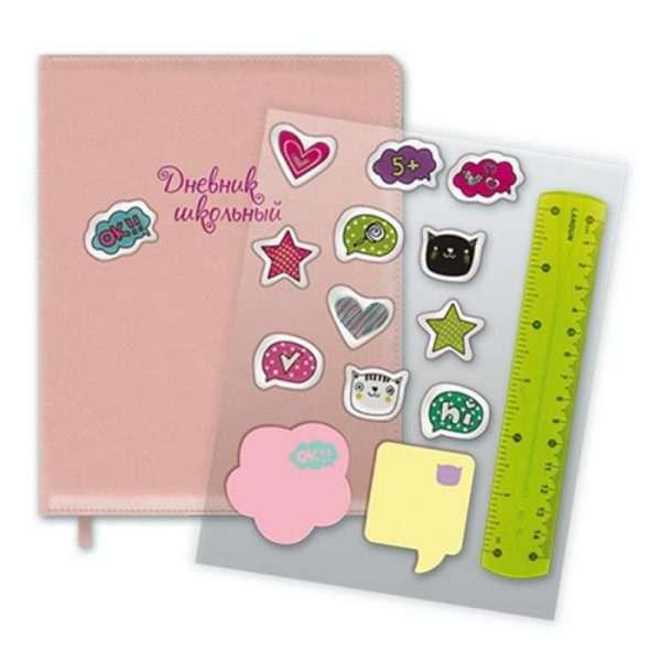 """Дневник для 1-11 классов """"Создай свой стиль"""" (розовый)"""