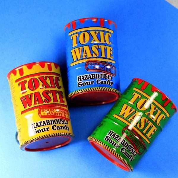 "Конфета ""Toxic Waste"" (кислые + тату, синие)"