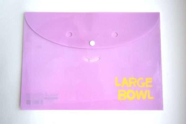 "Папка-конверт на кнопке ""Large Bowl"", А4"