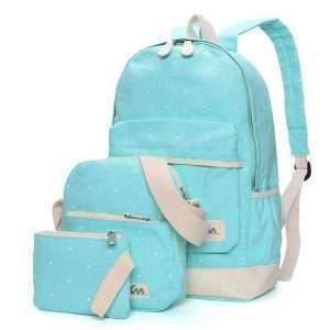 """Рюкзак+сумки """"Polka dot"""" (морская волна)"""