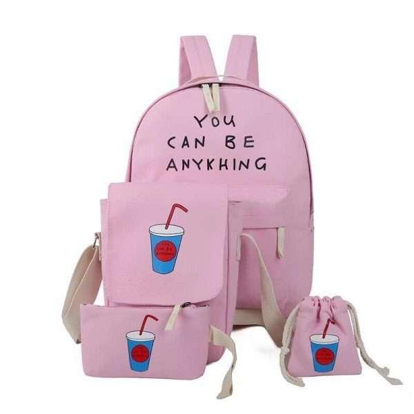 Рюкзак + сумки «Коктейль» (розовый)