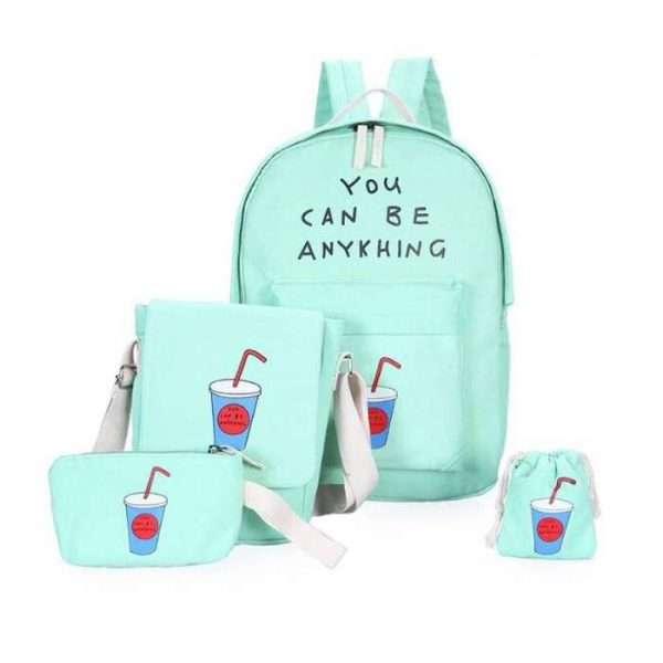 Рюкзак + сумки «Коктейль» (мятный)