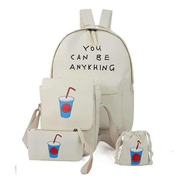 Рюкзак + сумки «Коктейль» (бежевый)