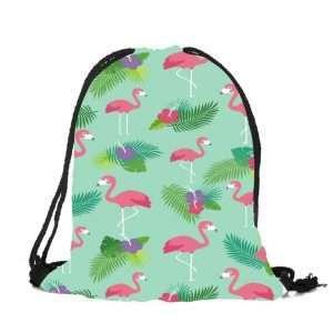 Сумка-мешок для обуви «Фламинго» (мятный)