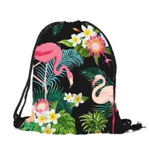 Сумка-мешок для обуви «Фламинго» (черный)