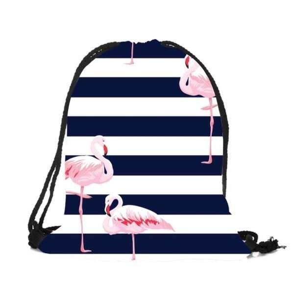 Сумка-мешок для обуви «Фламинго» (полосы)