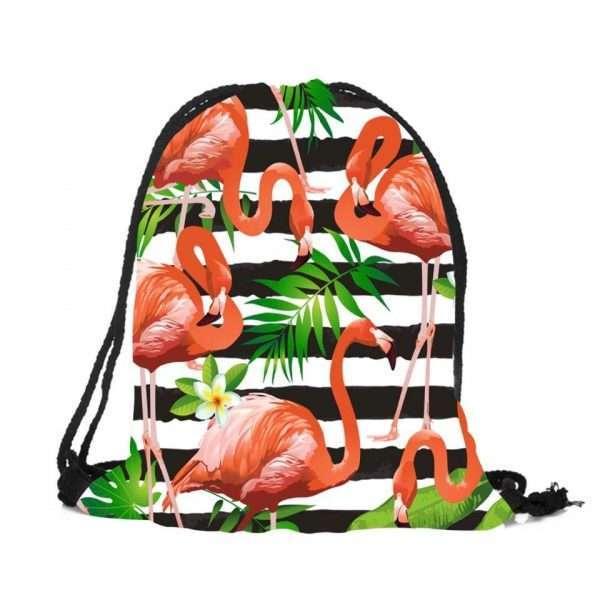 Сумка-мешок для обуви «Фламинго» (красный)