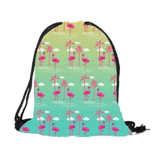 Сумка-мешок для обуви «Фламинго» (пальмы)