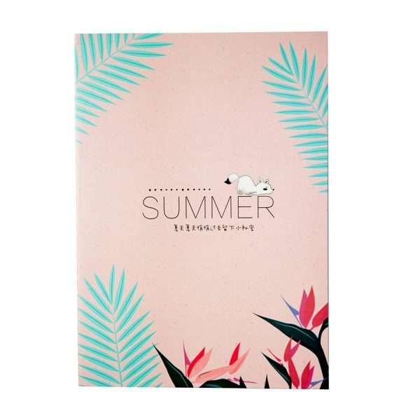 """Тетрадь """"Summer"""", В5 (розовая)"""