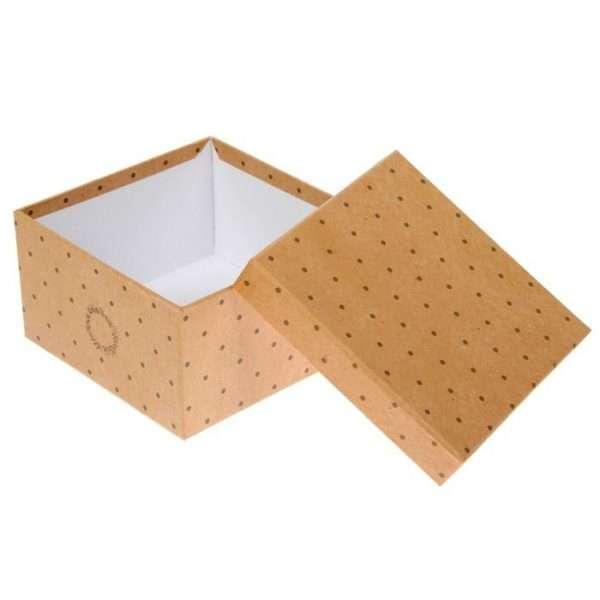 Коробка крафт, 22х22х12см