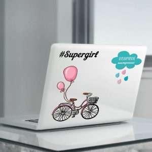 """Наклейки для ноутбуков """"Supergirl"""""""