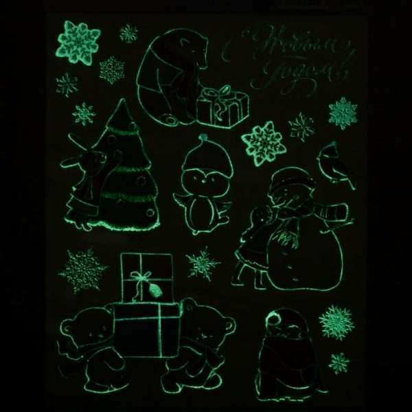"""Наклейка со светящимся слоем """"Снежные забавы"""""""