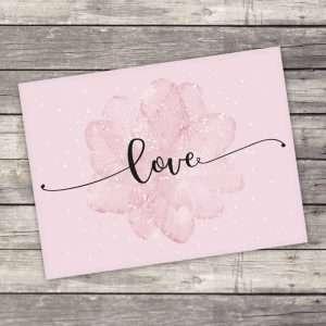 """Открытка–комплимент """"Love"""""""