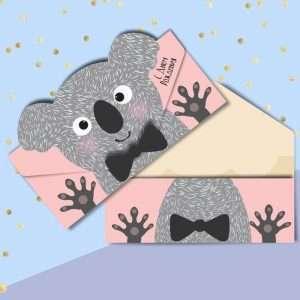 Конверт для денег формовой «С Днём Рождения» (коала)