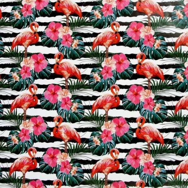 "Бумага упаковочная ""Розовый фламинго"""