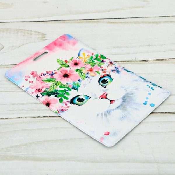 Чехол для карточек и бейджа «Кошка»