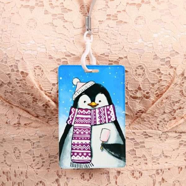 Чехол для карточек и бейджа «Пингвин»