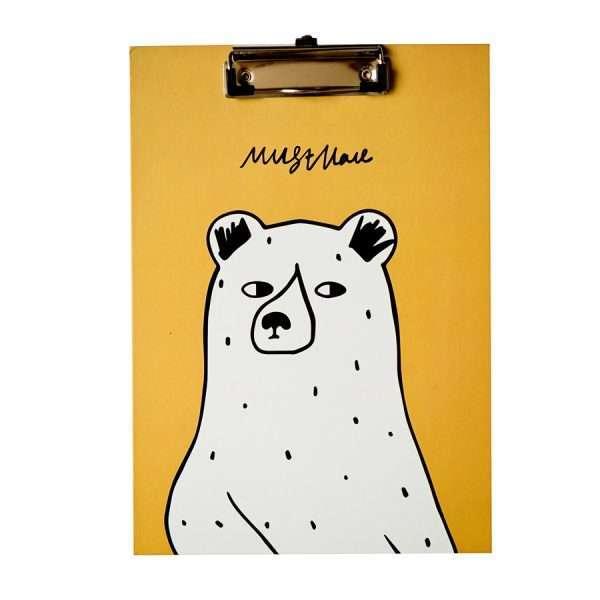 """Планшет """"Bear"""" (желтый), А4"""