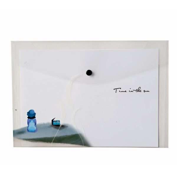 "Папка-конверт на кнопке ""Girl dreams"" (домик), А4"