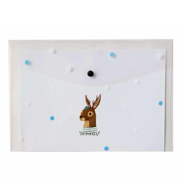 """Папка-конверт на кнопке """"Forest animals"""" (олень), А4"""