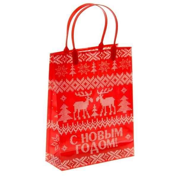 Пакет подарочный «Вязаный»
